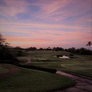 Sunset at Maui Nui Golf Club Kihei Maui HI 96753